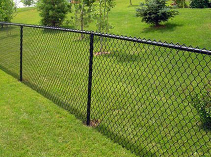 Black Chain Link Fence in Kennedale